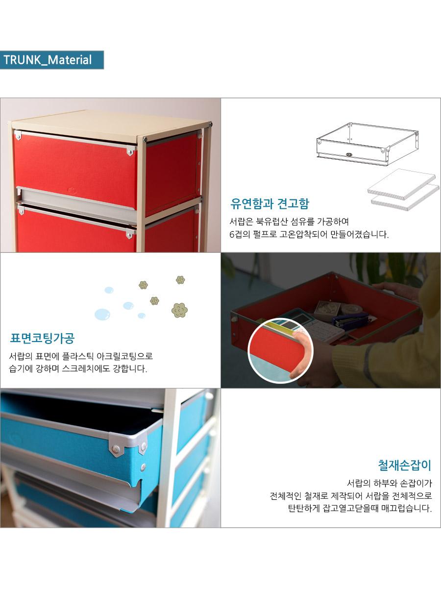 컬러풀 2단서랍장_ TRUNK트렁크2 - 큐빅스, 68,000원, 수납/선반장, 트롤리/이동식정리함